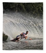Water Skiing 12 Fleece Blanket