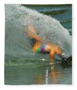 Water Skiing 5 Magic Of Water Fleece Blanket