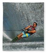 Water Skiing Magic Of Water 14 Fleece Blanket