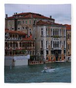 Water Taxi In Venice Fleece Blanket