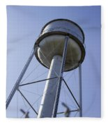 Water Tower Deer Lodge Montana Fleece Blanket
