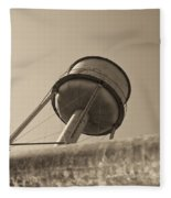 Water Tower In Deer Lodge Montana Fleece Blanket