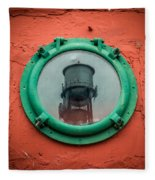 Water Tower Reflection Fleece Blanket