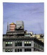 Water Tower View Fleece Blanket