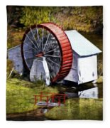 Water Wheel Fleece Blanket