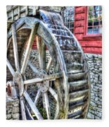 Water Wheel On Mill Fleece Blanket