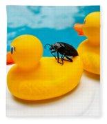 Waterbug Takes Yellow Taxi Fleece Blanket