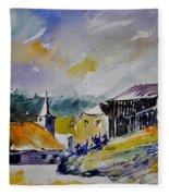 Watercolor Baillamont Fleece Blanket