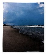 watercolor Beach Fleece Blanket