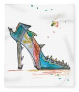 Watercolor Fashion Illustration Art Fleece Blanket