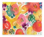 Watercolor Garden Fleece Blanket