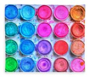 Watercolor Fleece Blanket