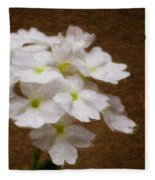 Watercolor Of Daisies Fleece Blanket