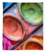 Watercolor Ovals One Fleece Blanket