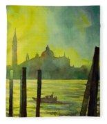 Watercolor Painting Of The Dome Of San Giorgio Maggiore Church I Fleece Blanket