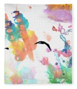 Watercolor Seagulls Fleece Blanket