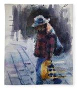 Watercolor Sketch Fleece Blanket