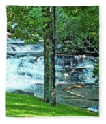 Waterfall And Hammock In Summer 2 Fleece Blanket