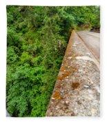 Waterfall And Old Road Fleece Blanket