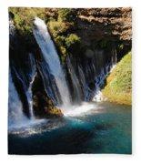Waterfall And Rainbow 4 Fleece Blanket