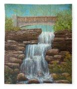Waterfall At East Hampton Fleece Blanket