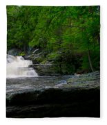 Waterfall At George W Childs Park Fleece Blanket