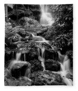 Waterfall At Rainbow Springs Fleece Blanket