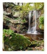 Waterfall At Roughting Linn Fleece Blanket