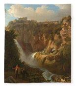 Waterfall At Tivoli Fleece Blanket