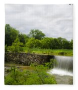 Waterfall At Valley Creek Near Valley Forge Fleece Blanket