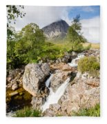 Waterfall Below Stob Dearg Fleece Blanket