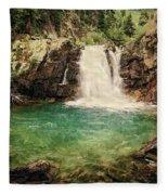 Waterfall Dreaming Fleece Blanket