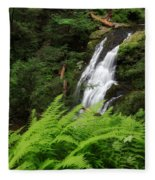 Waterfall Fern Square Fleece Blanket