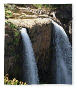 Waterfall From The Top Fleece Blanket