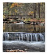Waterfall - George Childs State Park Fleece Blanket