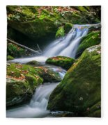 Waterfall Great Smoky Mountains  Fleece Blanket