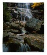 Waterfall In A Forest, Arethusa Falls Fleece Blanket