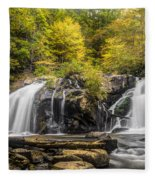 Waterfall In Autumn Fleece Blanket
