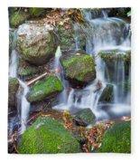 Waterfall In Marlay Park Fleece Blanket