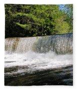 Waterfall In Woodstock Vermont Fleece Blanket