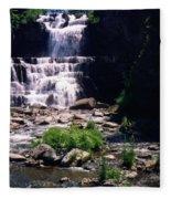 Waterfall Into The Stream Fleece Blanket