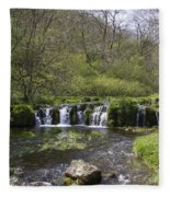 Waterfall Lathkill Dale Derbyshire Fleece Blanket