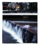 Waterfall New Hope Pa Fleece Blanket