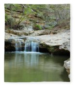Waterfall On Piney Creek Fleece Blanket