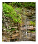 Waterfall On The Way To Thurmond Fleece Blanket