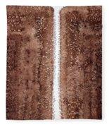 Waterfall Original Painting Fleece Blanket