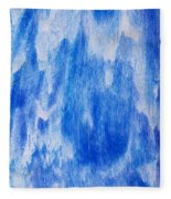 Waterfall Painting Fleece Blanket