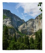 Waterfall, Yosemite Valley, Yosemite Fleece Blanket