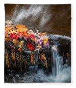 Waterfalls Childs National Park Painted    Fleece Blanket