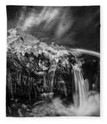 Waterfalls Childs National Park Painted Bw   Fleece Blanket